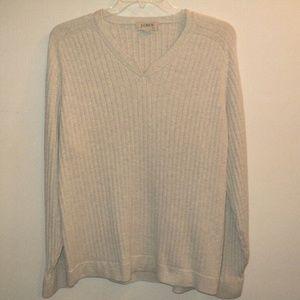 J. Crew Men's Size XL Sweater Light Gray V Neck